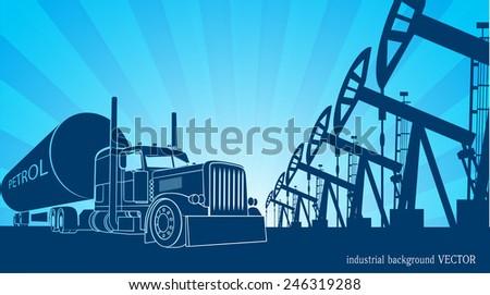 industrial background - stock vector