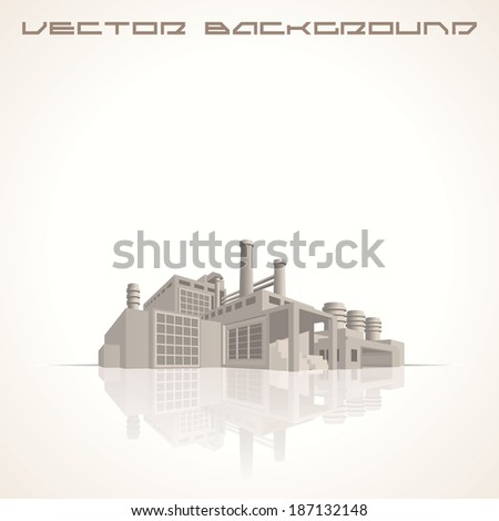 Industrial Background. 3D Vector Image.Ready for Your Text and Design. - stock vector