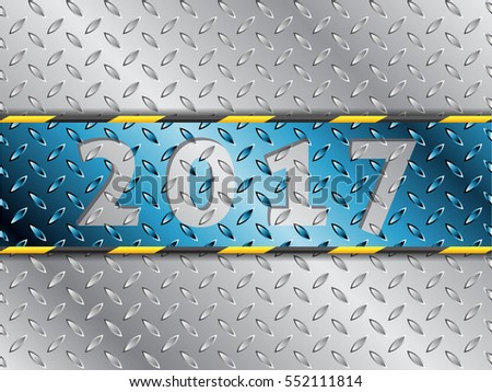 Industrial 2017 background design with blue stripe