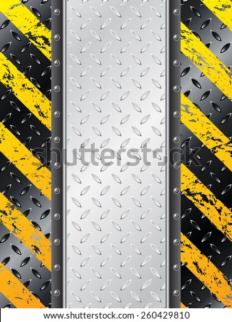 Industrial background design with place for text ideal for warning text - stock vector