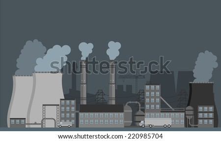 Industrial background. Vector Illustration - stock vector