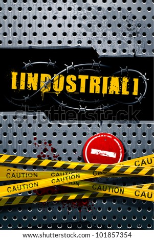 Industrial background with grunge elements and place for your text. Vector illustration. - stock vector