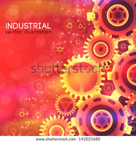 Industrial background with text fields. Vector Illustration, eps10, contains transparencies. - stock vector