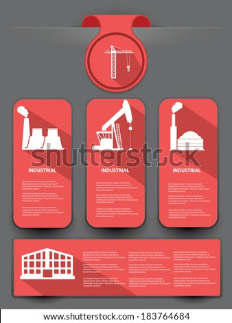 Industrial banner for text,vector - stock vector