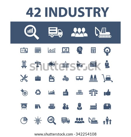 Industrial business, Factory, industry, meeting, logistics, manufacturing, plant, engineering, business concept  icons, signs vector concept set for infographics, mobile, website, application  - stock vector