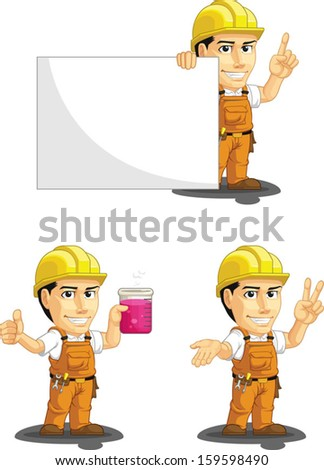 Industrial Construction Worker Customizable Mascot 6