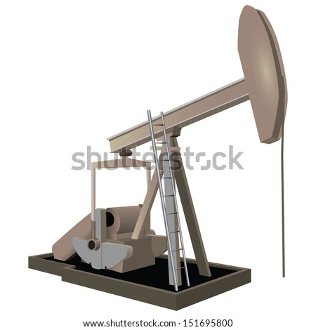 Industrial equipment for oil extraction. Vector illustration. - stock vector