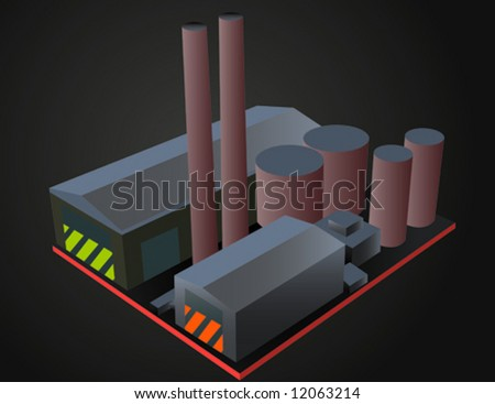 Industrial Factory - stock vector