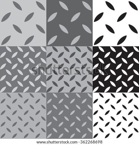 Industrial floor pattern, Metal texture, Metal Background, Plate Vector - stock vector