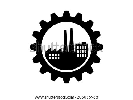 Industrial icon on white background - stock vector