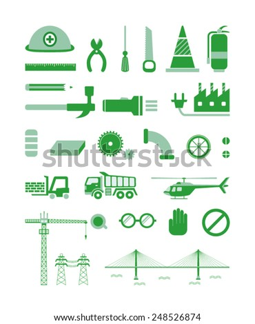 Industrial Pictogram - stock vector