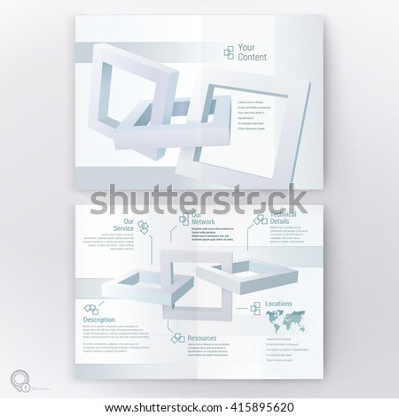 Industrial Rectangular 3D Frames Borders Vector Design Composition for Your Technology or Architectural Infographics  - stock vector