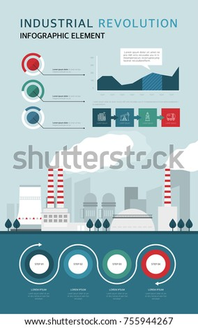 stock vector industrial revolution flat design info graphic 755944267 industrial revolution art wiring diagrams wiring diagrams Electrical Wiring Diagrams For Dummies at bakdesigns.co