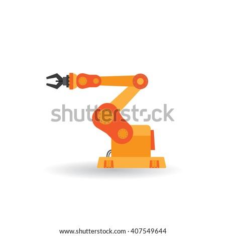 industrial robot - stock vector