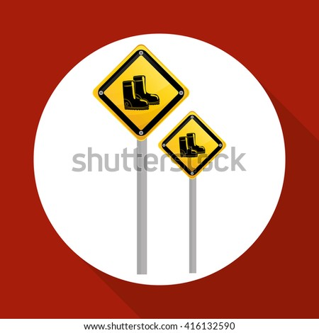 Industrial security design. road sign and alert illustration