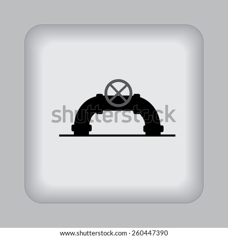 industrial, valve, pipe, icon, vector, illustration - stock vector