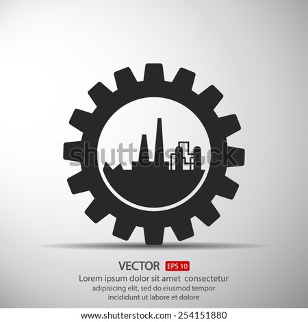 Industrial vector icon  - stock vector