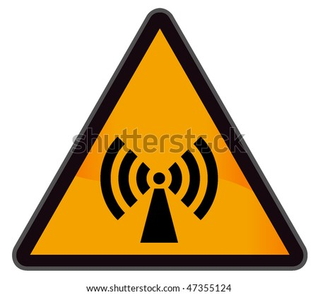 industrial warning signs wi-fi - stock vector