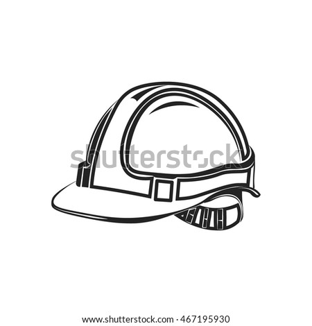 Industrial Workers Icon Safety Helmet Construction