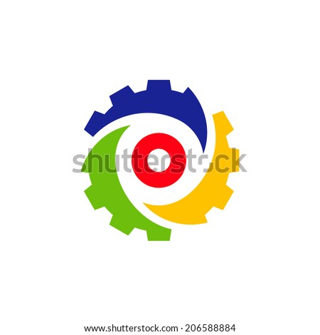 Industry abstract sign Branding Identity Corporate vector logo design template Isolated on a white background - stock vector