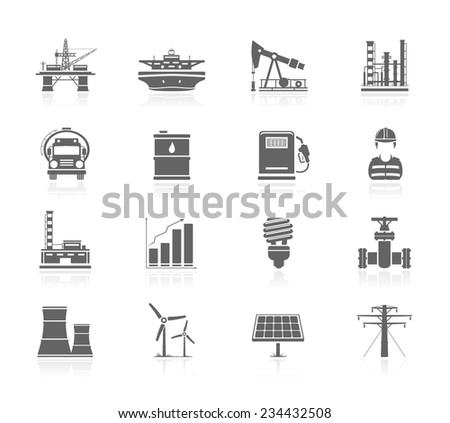 Industry and energy icons - stock vector