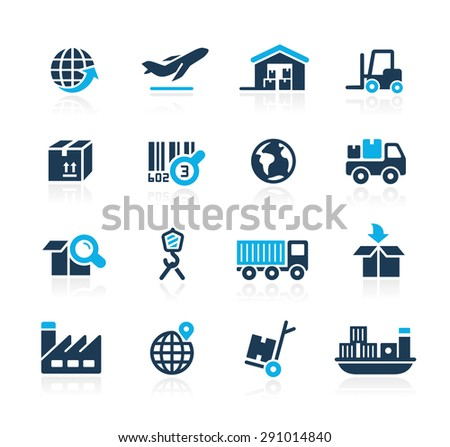 Industry and Logistics // Azure Series - stock vector