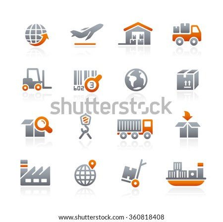 Industry and Logistics // Graphite Series - stock vector
