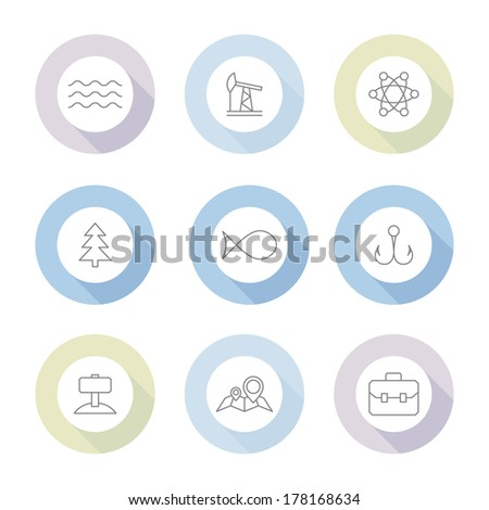 Industry buttons on white background,vector icon  - stock vector