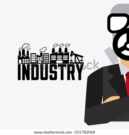 industry concept design, vector illustration eps10 graphic  - stock vector