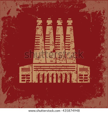 Industry design on red background,vector - stock vector