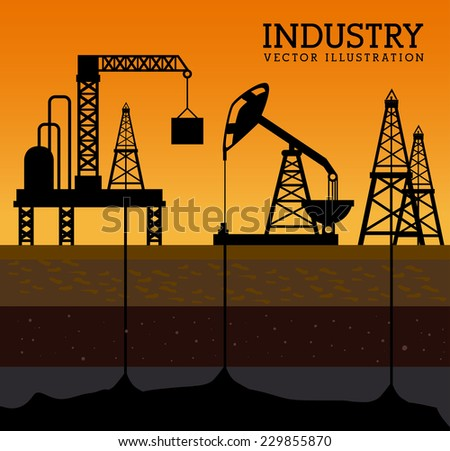 Industry design over yellow background, vector illustration