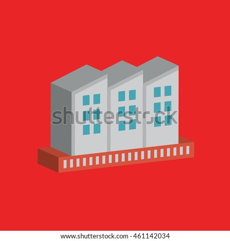 Industry graphic on red background,vector