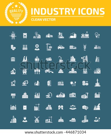 Industry icon set,vector