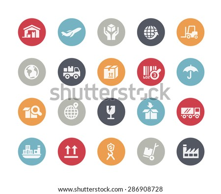 Industry & Logistics Icons // Classics Series - stock vector