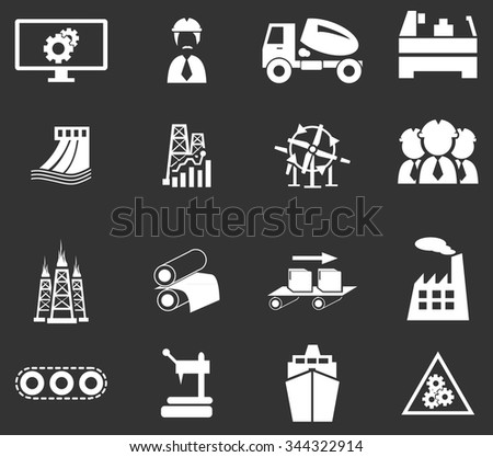 industry set symbol for web icons