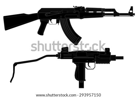 infantry weapon.vector illustration 2 - stock vector