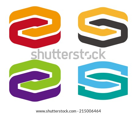 Infinite cross ribbon vector design icon template. Design logo element. You can use in the mobile, finance,biology, chemistry, science and other commercial image. S icon set.  - stock vector