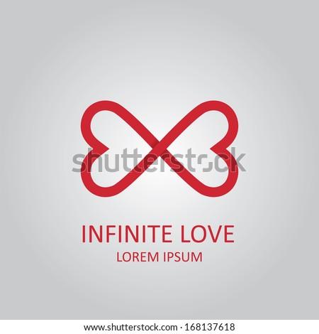 Infinite love - stock vector