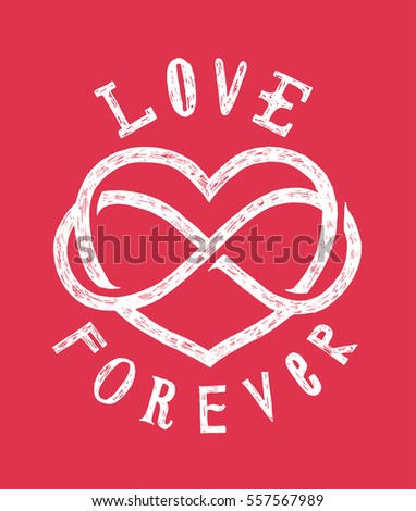 infinite love sign drawing love forever stock vector hd (royalty