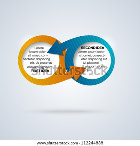 Infinity conceptual template for different business design. Vector illustration. - stock vector