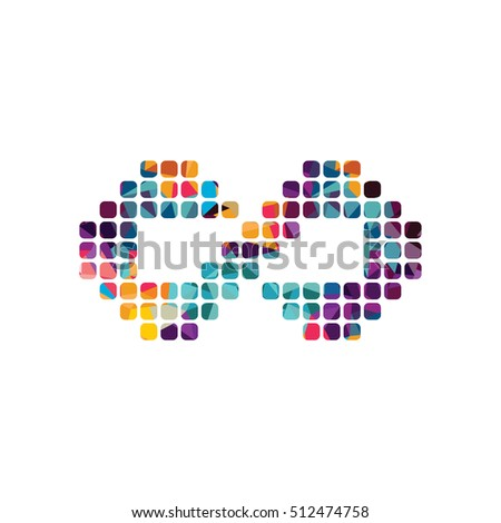 infinity dot logotype theme vector art illustration