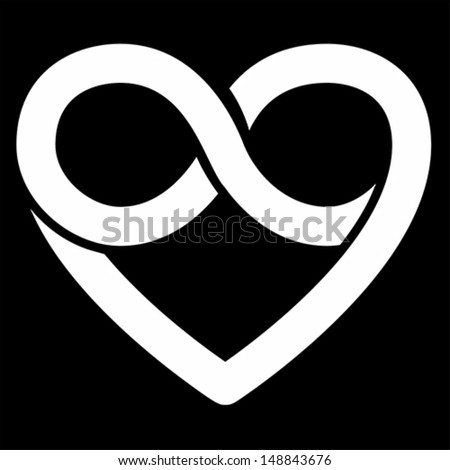 Infinity Heart Symbol Love Forever Icon Stock Vector 148843676