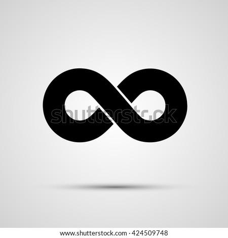 Infinity Icon black, template design element, Vector illustration - stock vector