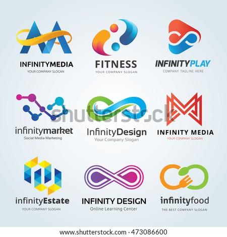 Infinity logo set