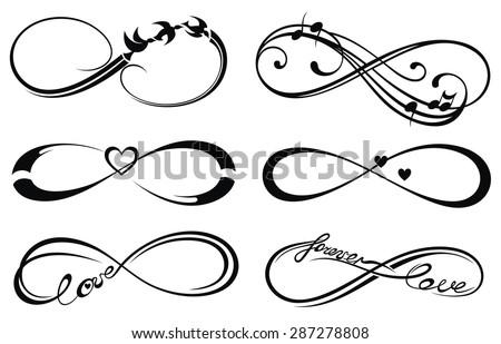 Infinity love, forever symbol - stock vector