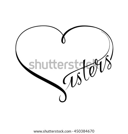 Infinity Love Sisters Vector Symbol Stock Vector Royalty Free Awesome Love Sisters Photo