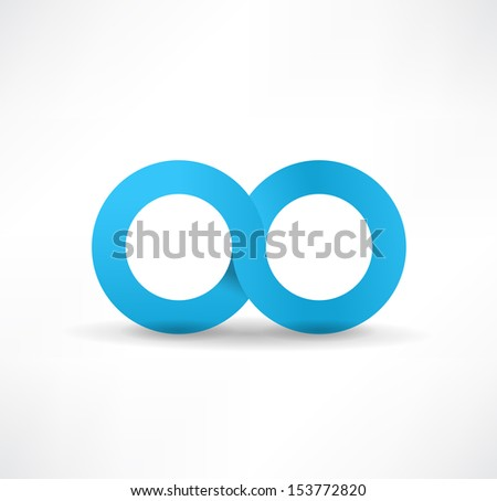infinity sign - stock vector