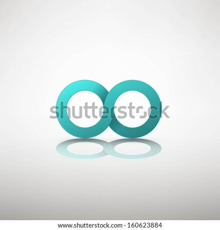infinity sign - stock vector