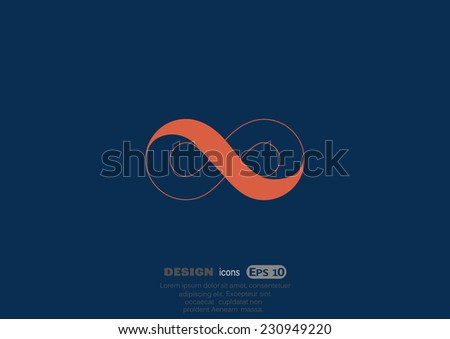 infinity sign vector icon - stock vector