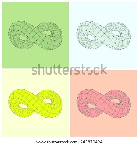 Infinity symbol. Can be used as design element, emblem, icon. 3d vector illustration.  - stock vector